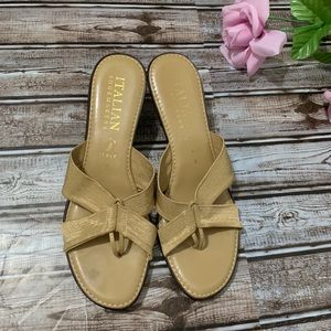 Italian Shoemakers Tan Strappy Sandals Size 9